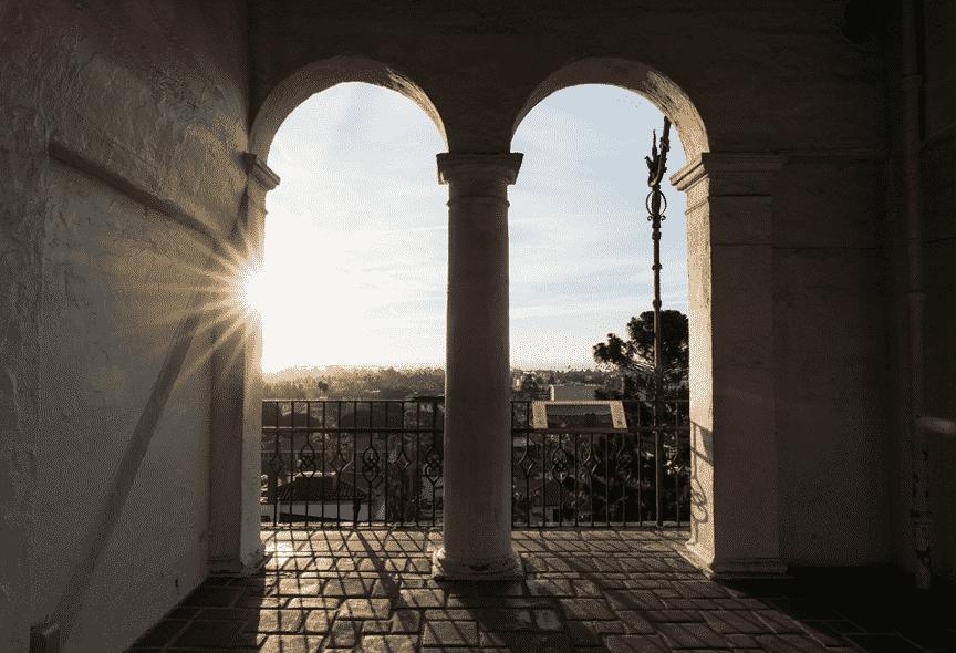 Santa Barbara Courthouse during sunrise