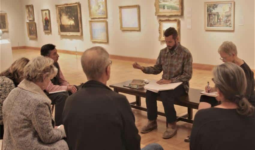 Writing classes at the Santa Barbara Museum of Art
